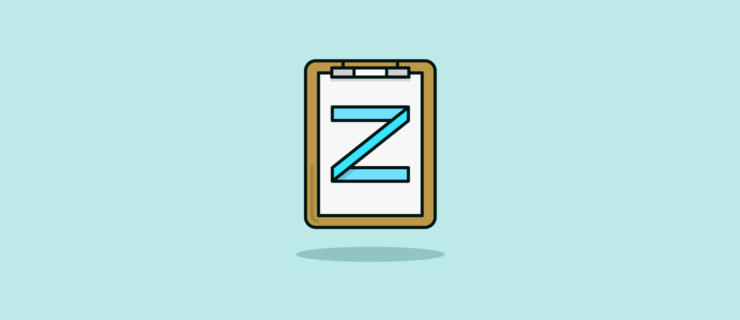 """clipboard with a """"z"""" in tape"""