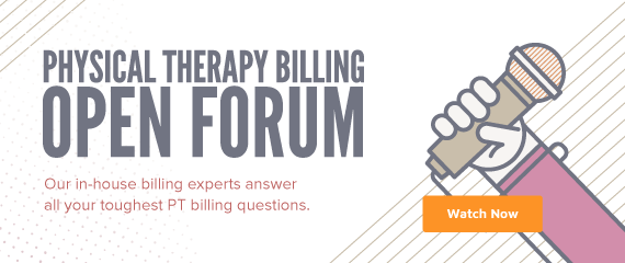 Desktop Ad Physical Therapy Billing Open Forum Webinar