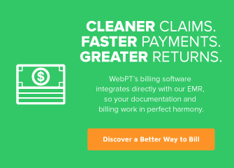 Mobile Ad WebPT Billing Software Therabill