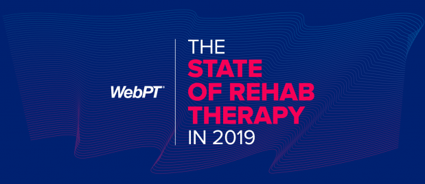 WebPT state of rehab logo and themed image