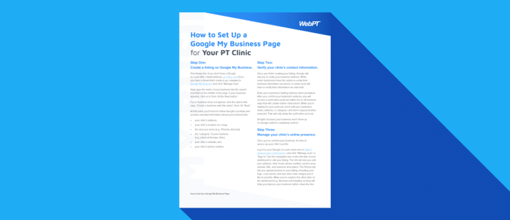 How to Set Up a Google My Business Page for Your PT Clinic