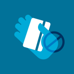 illustration of a hand holding a credit card with a cross out icon over it