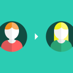 illustration of two avatars referring to each other
