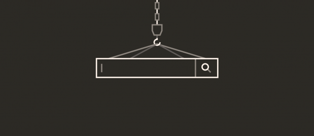 illustration of chain and hook holding a server module