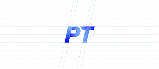 PT logo with guides from image tool