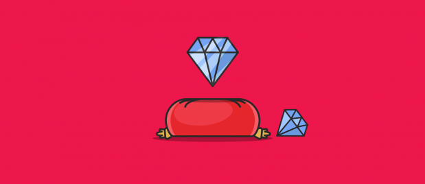 two diamonds with one floating above a pillow and the other lying on its side