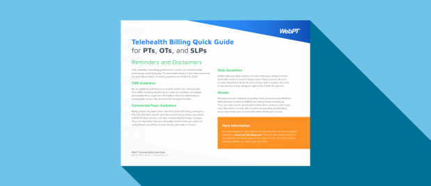 Telehealth Billing Quick Guide for PTs, OTs, and SLPs
