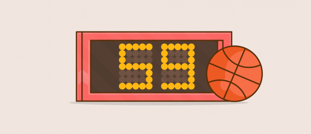 basketball shot clock with 59 seconds left