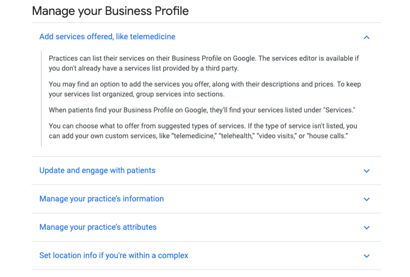 manage your business with google products
