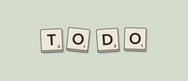 """Todo"" spelled out with Scrabble tiles"