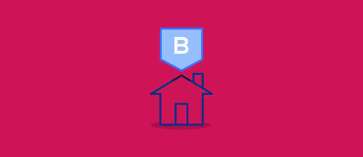 "outlined house with a tag with a ""b"" on it"