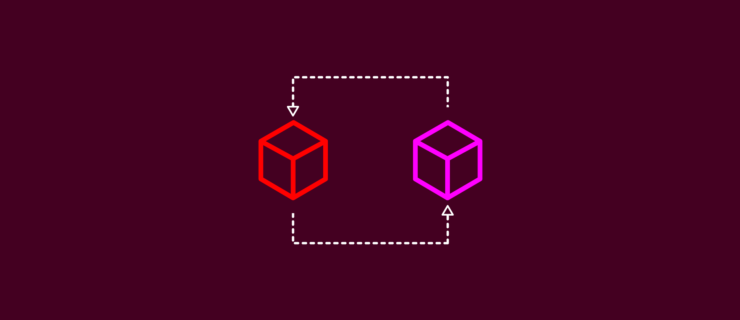 two cubes that are part of flowcharts