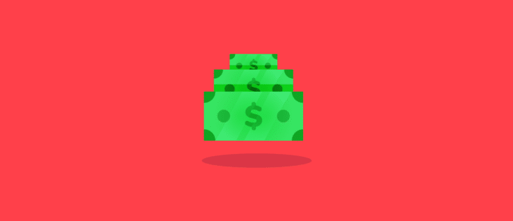 dollar bills in a coverflow effect