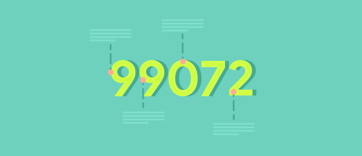 99072 digits with explanation arrows