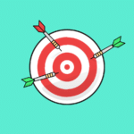 bullseye with three arrows