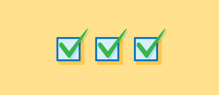 three checked checkboxes