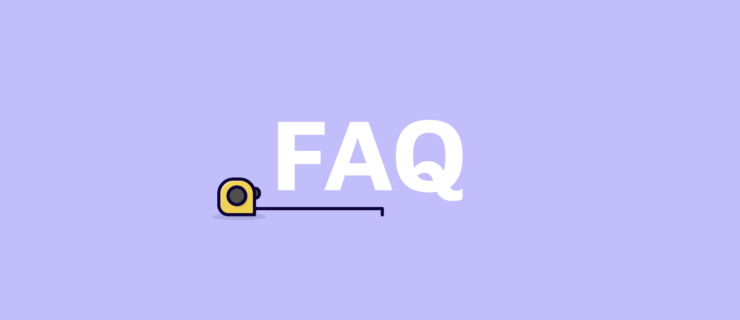 FAQ with tape with letters of FAQ