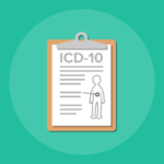 clipboard with ICD-10 rules