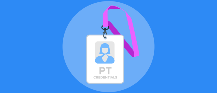 Physical Therapist's ID badge